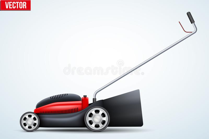 Lawn mower vector. Original Lawn mower. Garden equipment and tools. Vector Illustration royalty free illustration