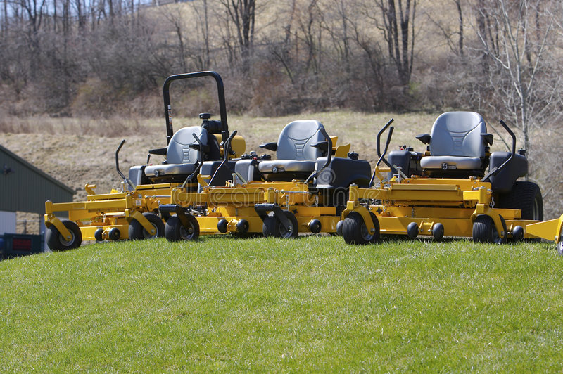 Lawn Mowers royalty free stock photography