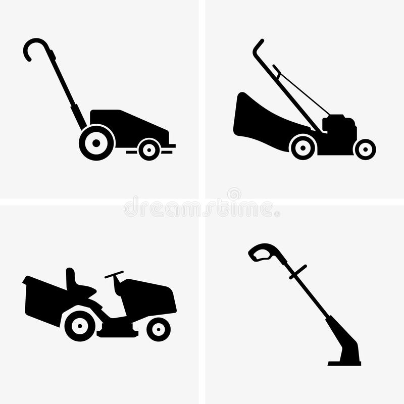 Lawn Mowers vector illustration