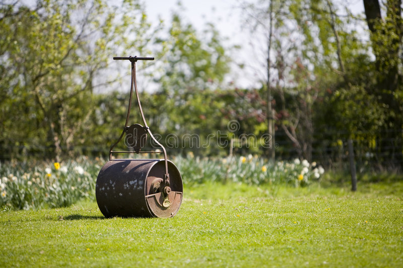 Lawn roller stock photography