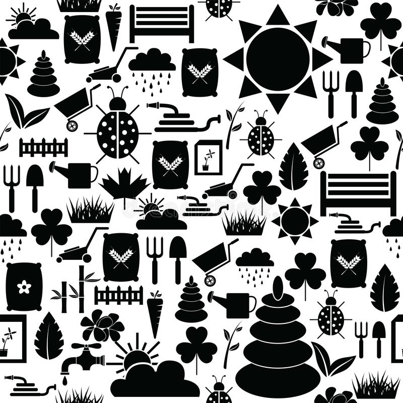 Lawn seamless pattern background icon. The lawn seamless pattern background icon vector illustration