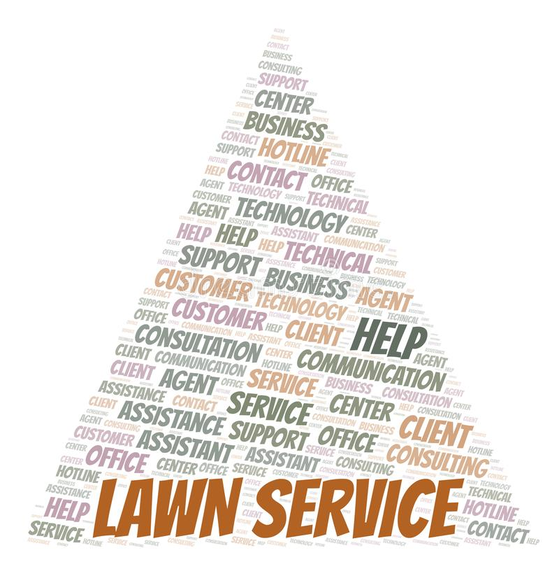 Lawn Service word cloud. Wordcloud made with text only stock illustration