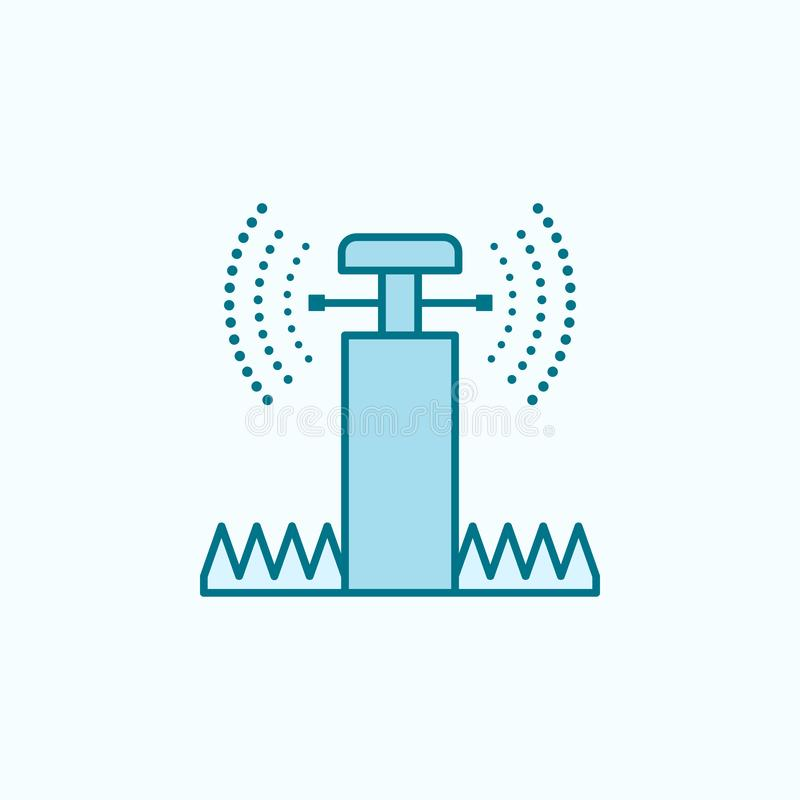 Lawn sprinkler field outline icon. Element of drip watering icon. Thin line icon for website design and development, app. Development. Premium icon on light vector illustration