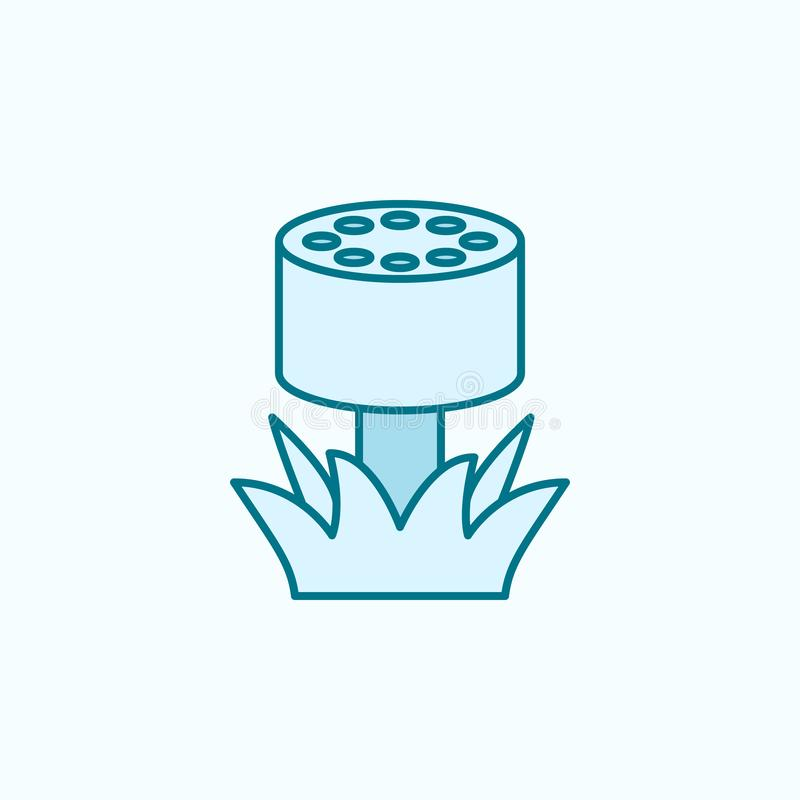 Lawn sprinkler field outline icon. Element of drip watering icon. Thin line icon for website design and development, app. Development. Premium icon on light royalty free illustration