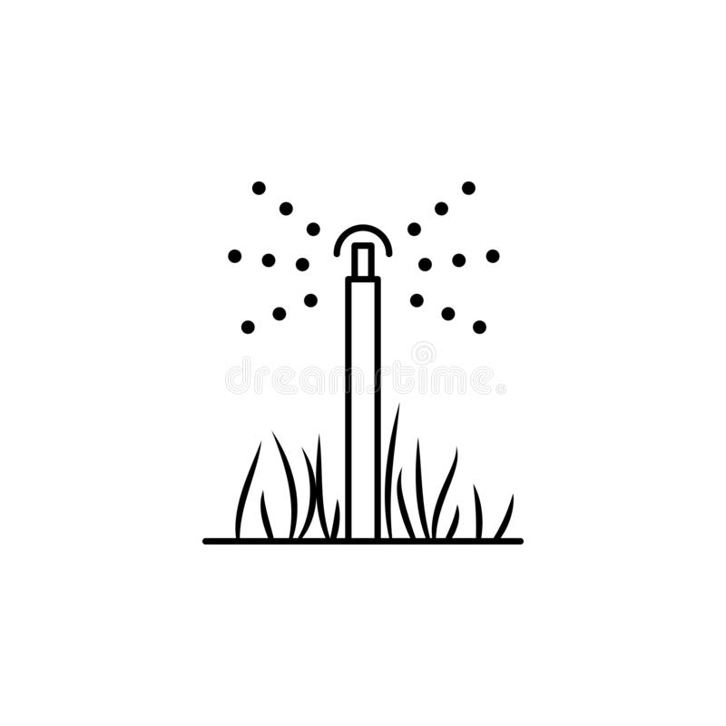 Lawn sprinkler icon. Element of drip watering icon for mobile concept and web apps. Thin line lawn sprinkler icon can be used for. Web and mobile on white royalty free illustration