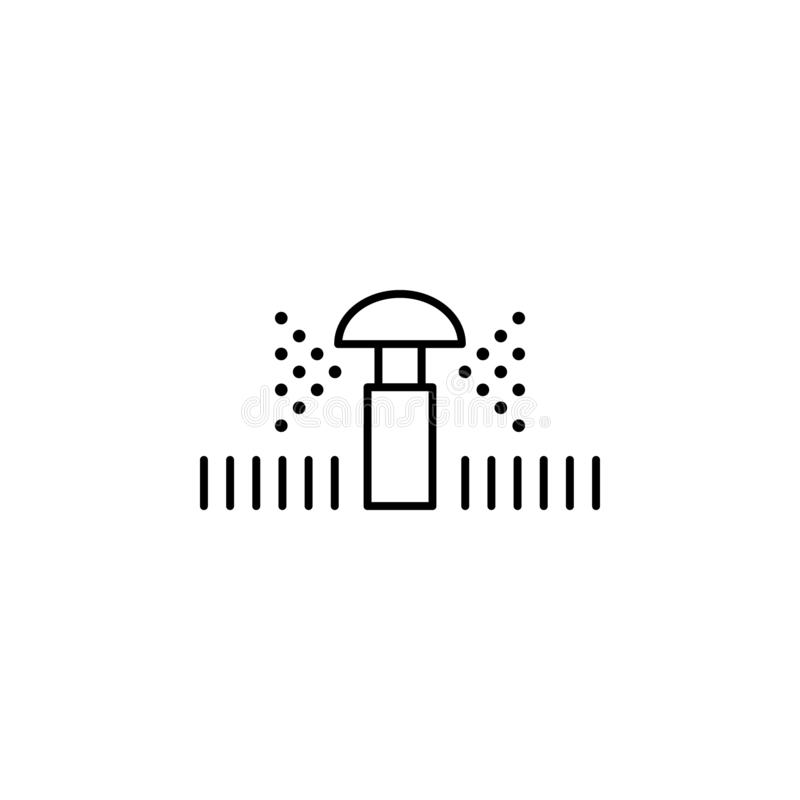 Lawn sprinkler icon. Element of drip watering icon for mobile concept and web apps. Thin line lawn sprinkler icon can be used for. Web and mobile on white stock illustration