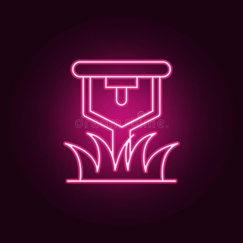 lawn sprinkler icon. Elements of Sprinkler in neon style icons. Simple icon for websites, web design, mobile app, info graphics stock illustration
