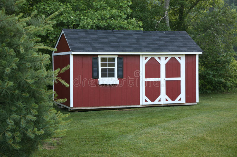 Lawn storage shed stock photos