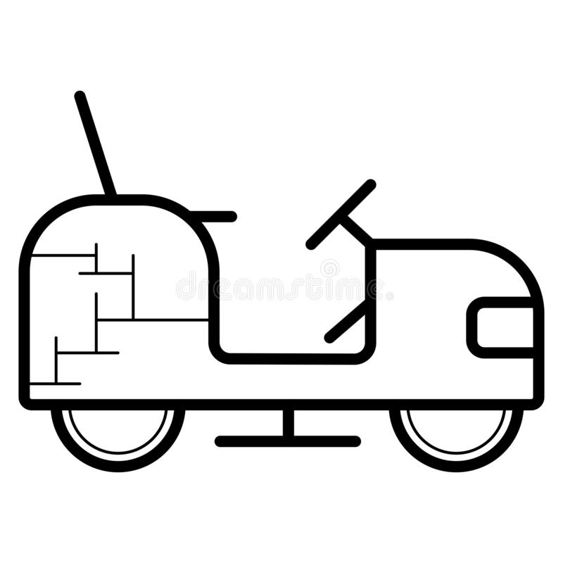 Lawn tractor icon. Vector illustration stock illustration