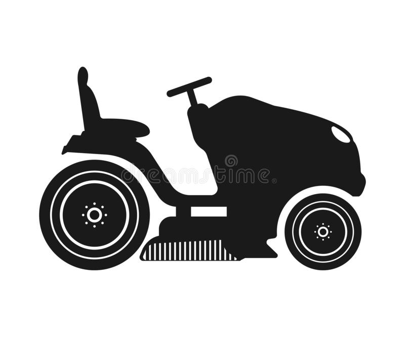Lawn tractor icon. Vector concept illustration for design. Eps 10 stock illustration