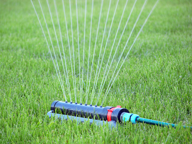 Download Lawn watering stock image. Image of irrigating, blade - 25733755