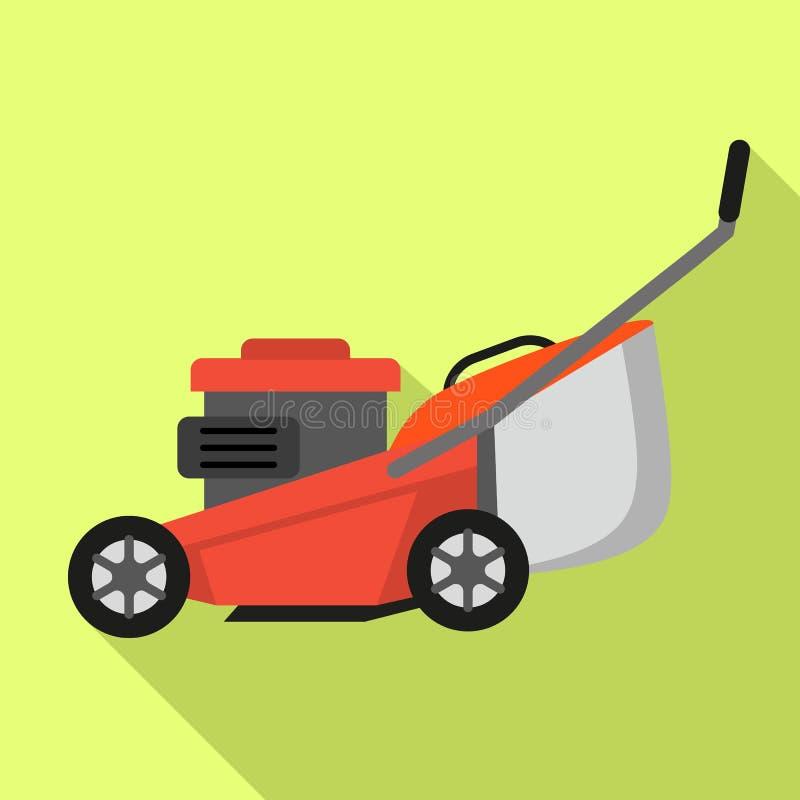 Lawnmower ikona, mieszkanie styl royalty ilustracja