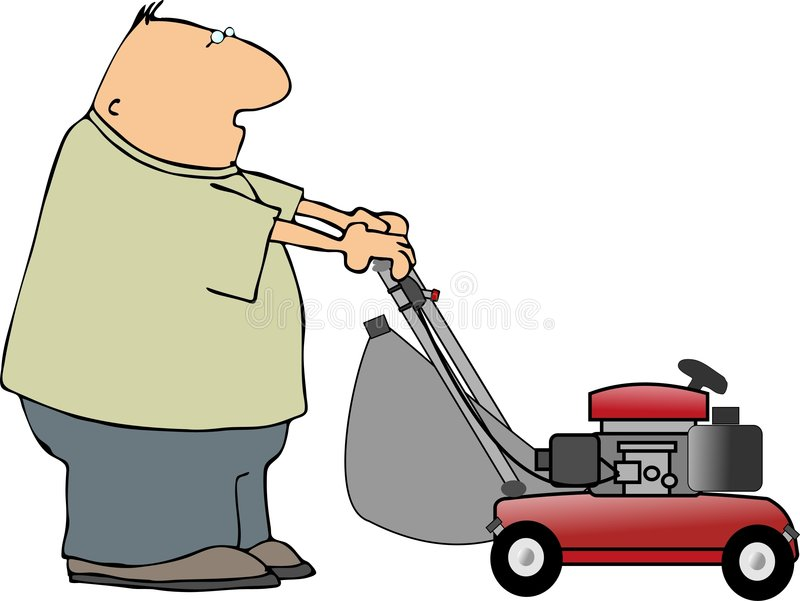 Lawnmowing royalty free illustration