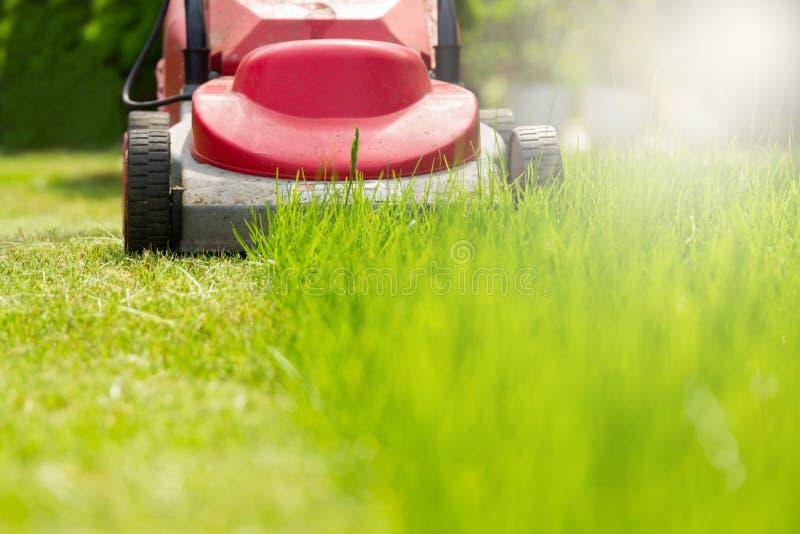 Lawnmowing stockfotos