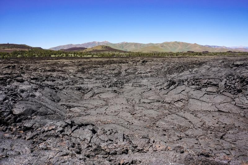 Lawowi pola, kratery księżyc park narodowy, Idaho fotografia royalty free