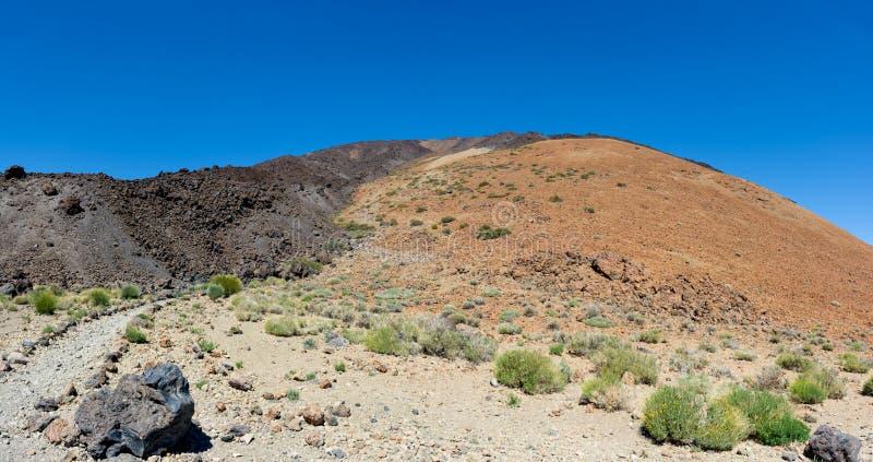 Lawowy przepływ na stokowym Teide wulkan Parque Nacional obrazy stock
