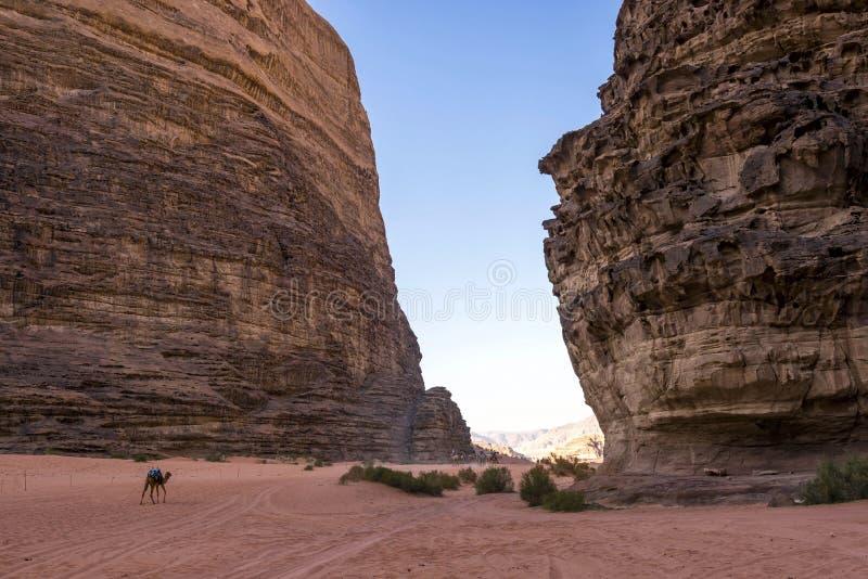 Lawrence of Arabia valley in Wadi Rum desert, Jordan stock image
