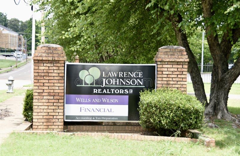 Lawrence Johnson Realtors, Memphis, TN imágenes de archivo libres de regalías