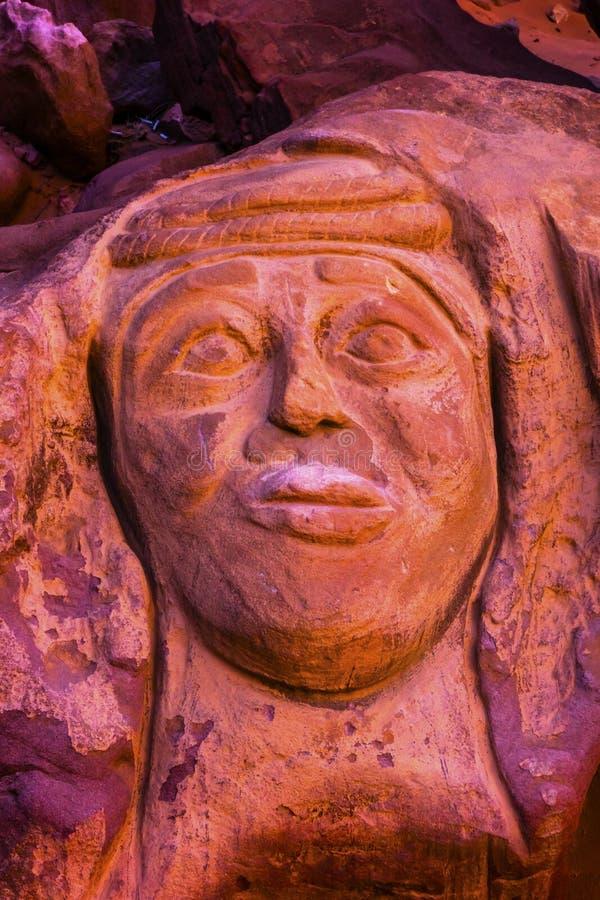Lawrence Memorial Barrah Siq Valley della luna Wadi Rum Jordan fotografie stock