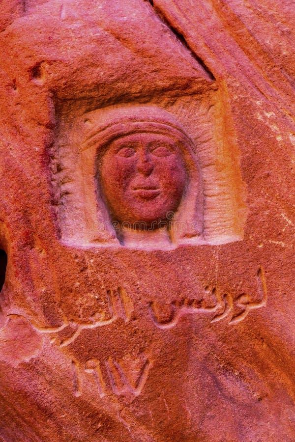 Lawrence Memorial Barrah Siq Valley of Moon Wadi Rum Jordan royalty free stock photography