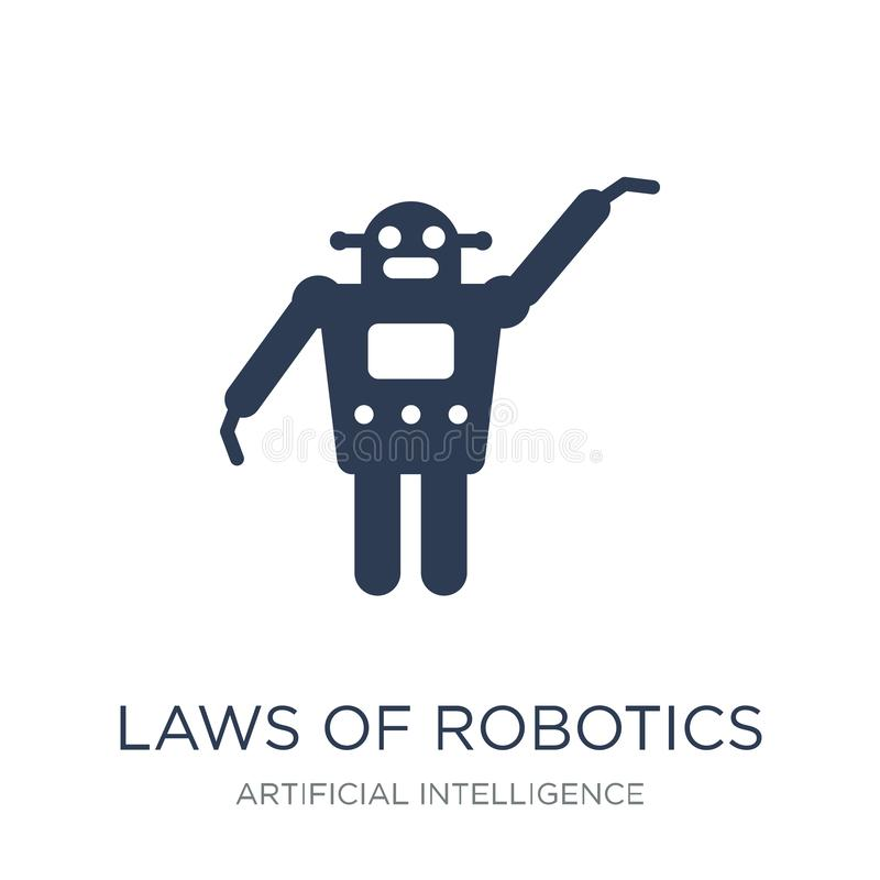 Laws of robotics icon. Trendy flat vector Laws of robotics icon royalty free illustration