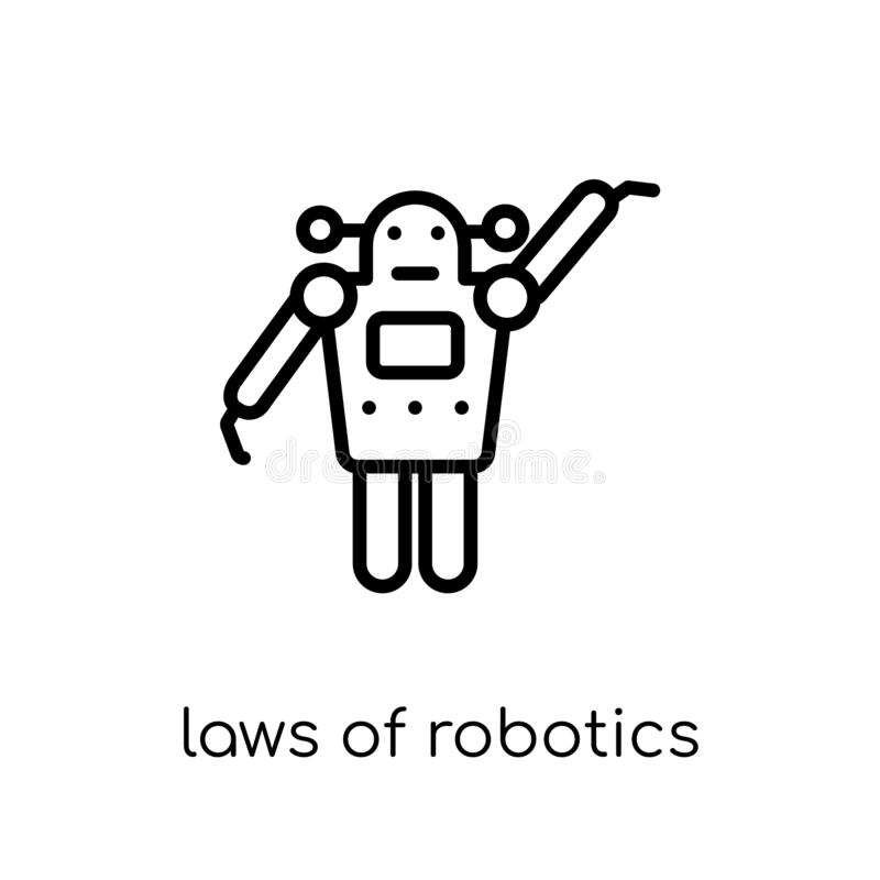 laws of robotics icon. Trendy modern flat linear vector laws of stock illustration