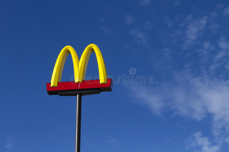Lawsuit Against McDonald's. Class action suit filed against McDonald's for luring kids to junk food. Monet Parham, a Sacramento, California, mother of two royalty free stock photo