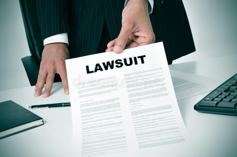 Lawsuit royalty free stock photography