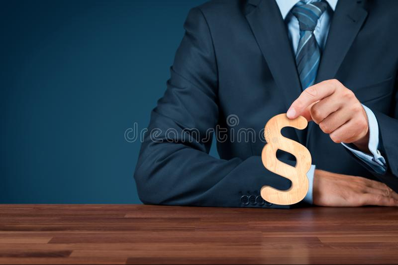 Lawyer protect rights stock photos
