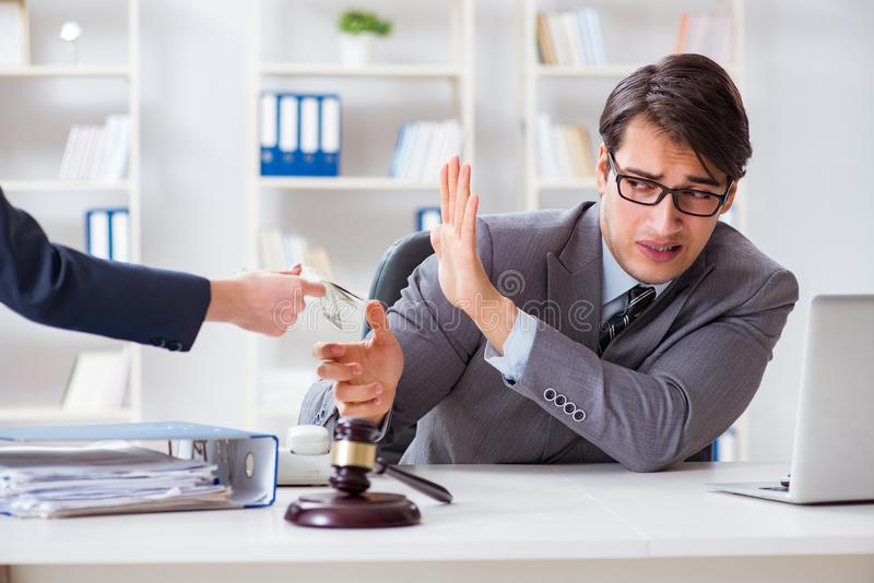 The lawyer being offered bribe for his services. Lawyer being offered bribe for his services royalty free stock images