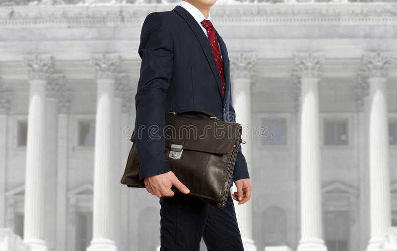 The lawyer with a briefcase stock images