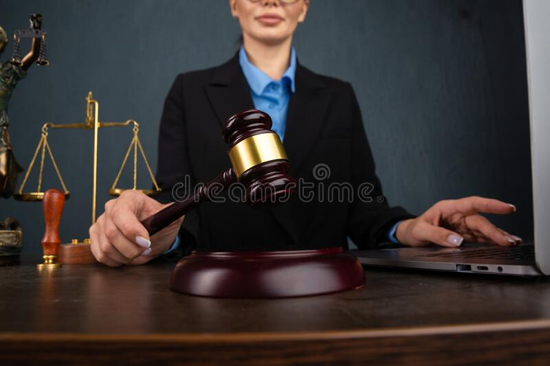 Lawyer business women working and notary signs the documents at office. consultant lawyer, justice and law ,attorney royalty free stock images
