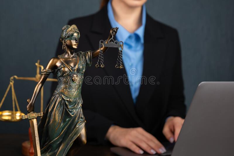 Lawyer business women working and notary signs the documents at office. consultant lawyer, justice and law ,attorney stock photography