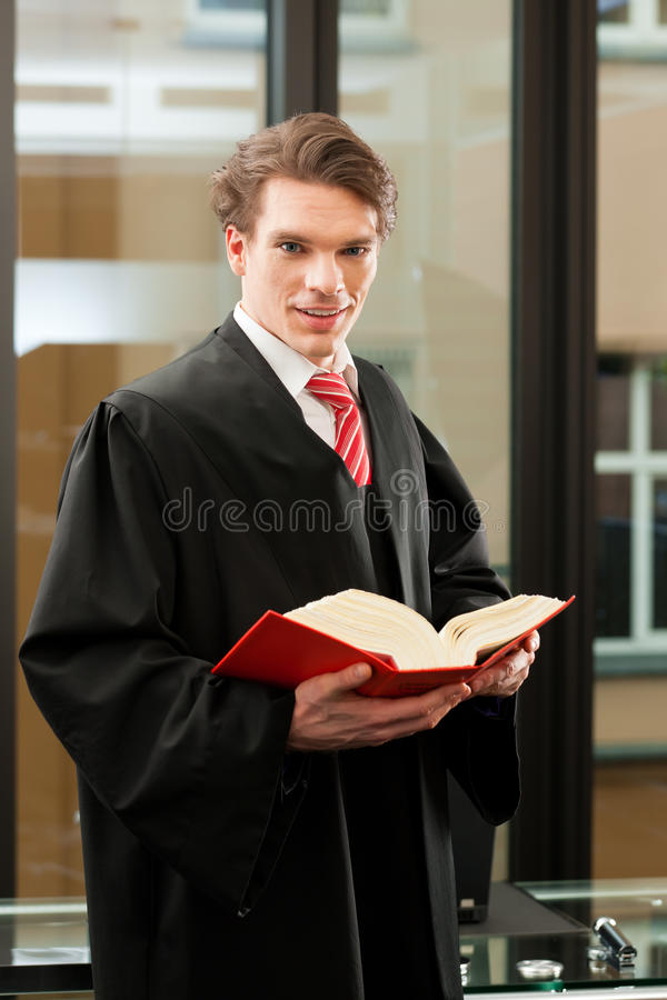 Lawyer With Civil Law Code Royalty Free Stock Photography