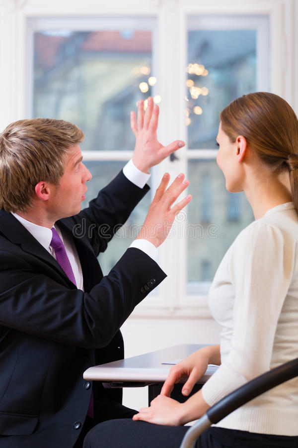 Lawyer and client in office royalty free stock photo