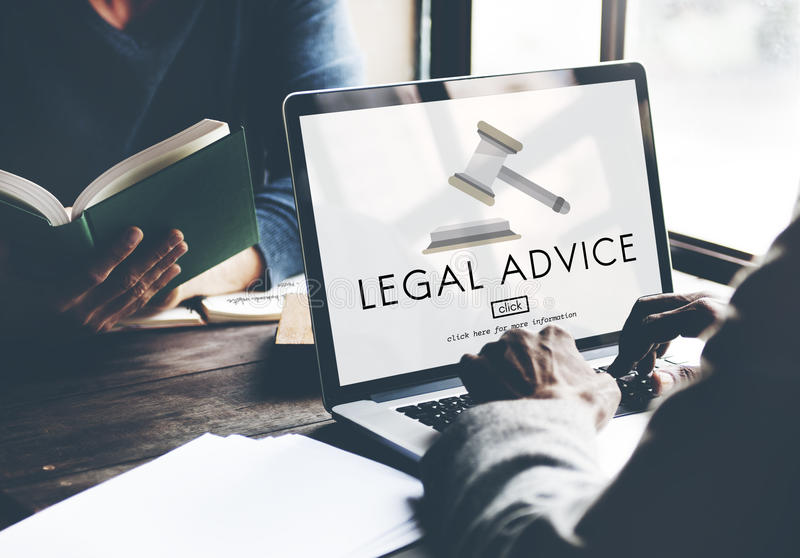Lawyer Legal Advice Law Compliance Concept stock image
