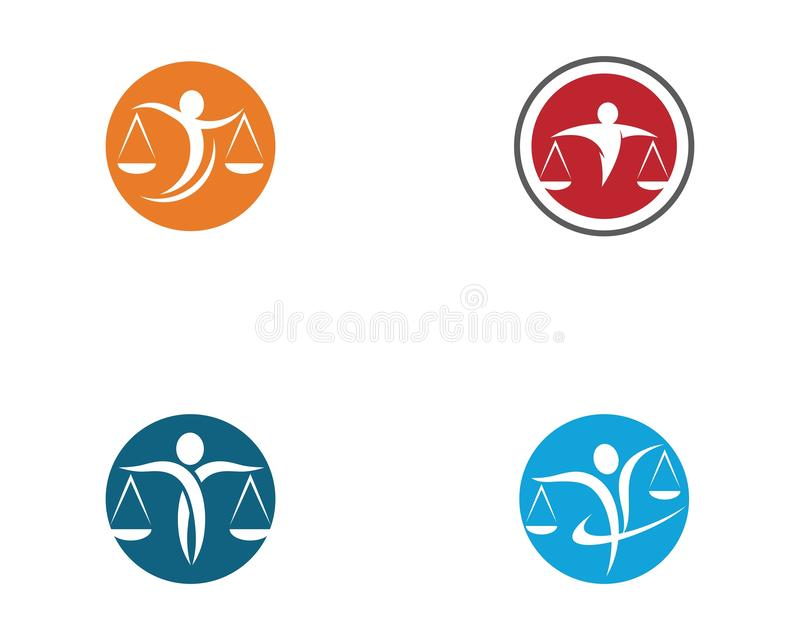 Lawyer logo template vector icon stock illustration