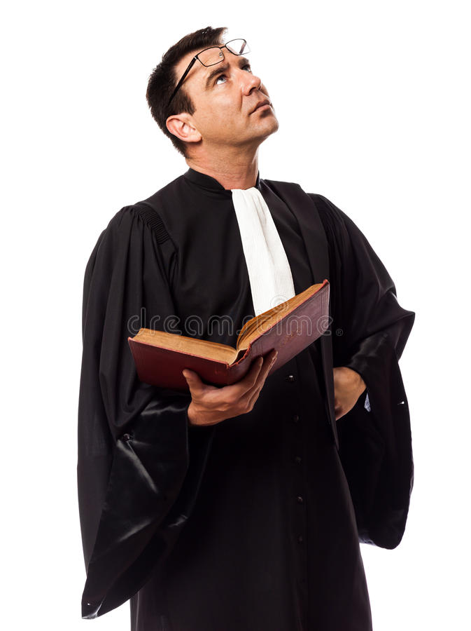 Download Lawyer Man Thinking Portrait Stock Image - Image of isolated, judges: 33876101