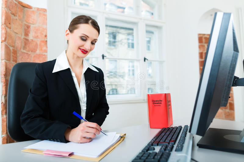 Download Lawyer In Office Sitting On The Computer Stock Photos - Image: 31409323