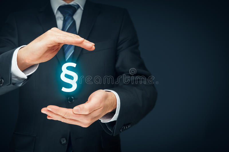 Lawyer protect rights stock image