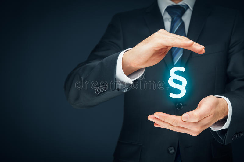 Lawyer protect rights stock photography