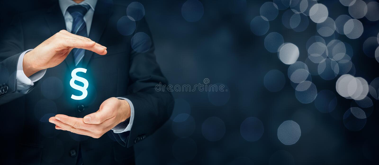 Lawyer protect rights royalty free stock photo