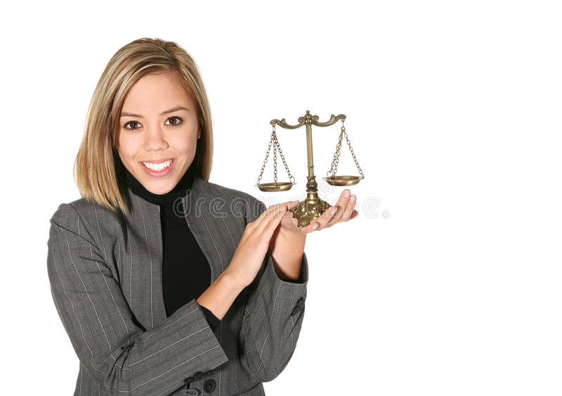 Lawyer with Scale royalty free stock photos