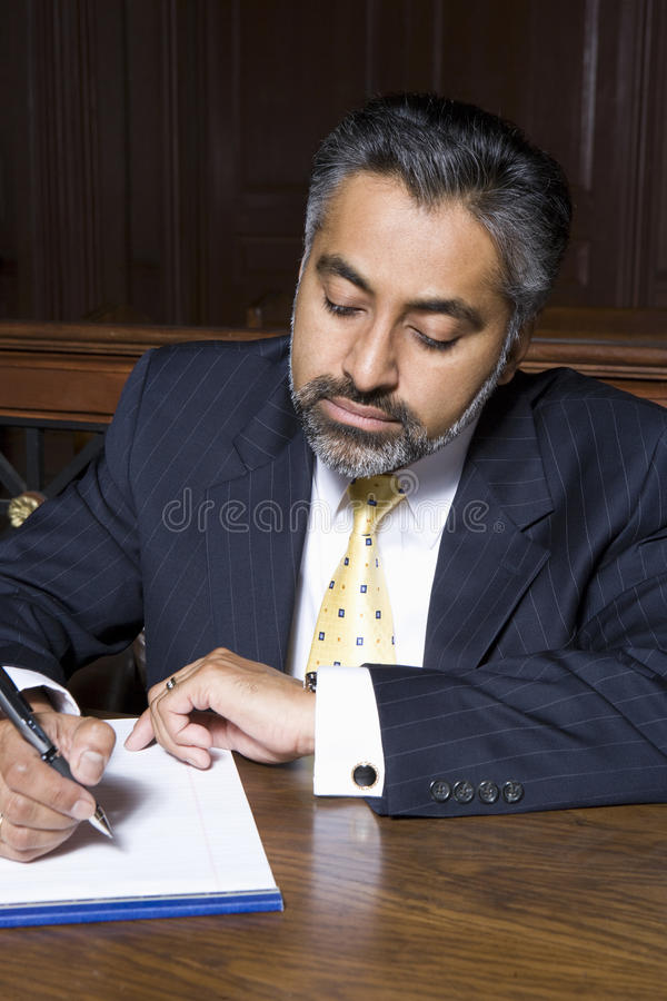 Free Lawyer Writing Notes Royalty Free Stock Images - 29662939