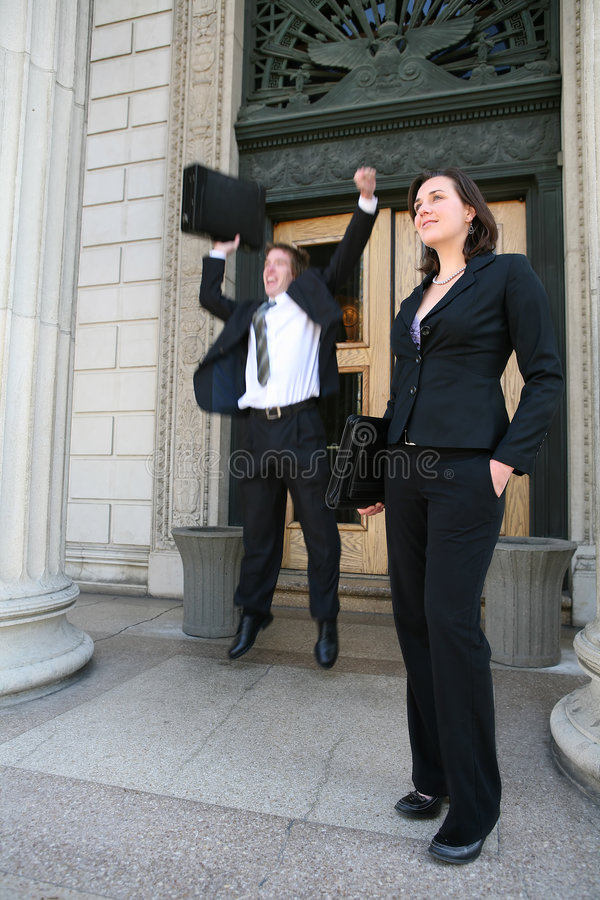 Lawyers at Court stock images