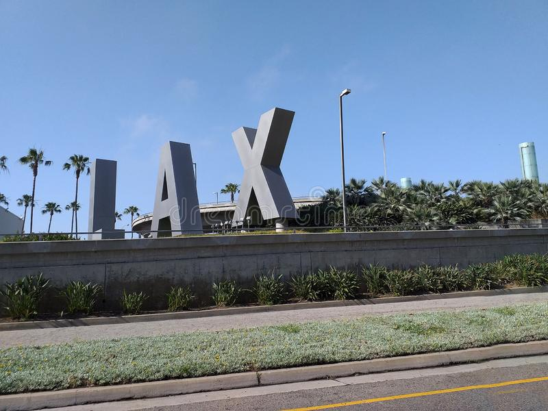 LAX letters, Los Angeles Airport royalty free stock images