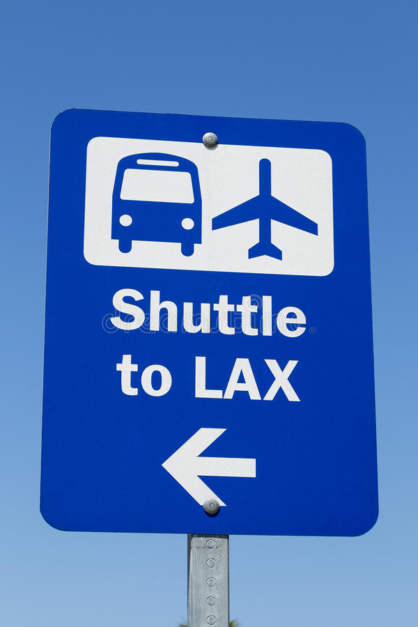 LAX Shuttle Sign. An Airport Shuttle Sign to LAX royalty free stock photos