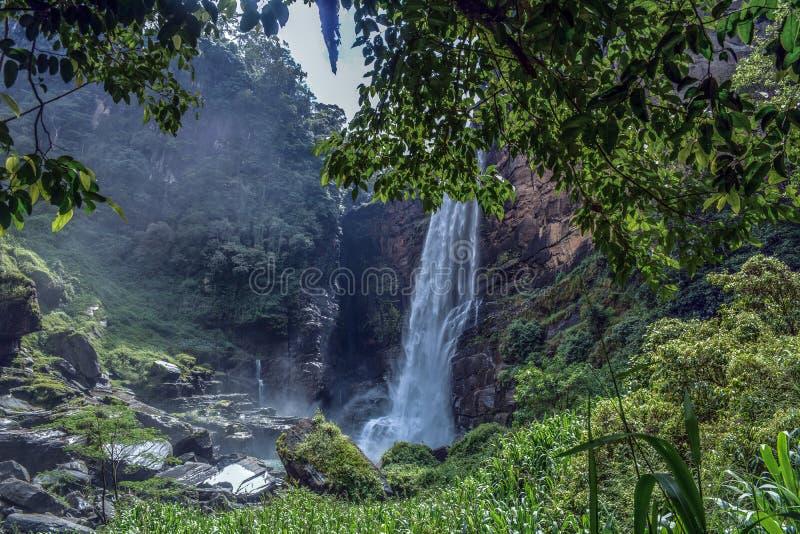 Laxapana siklawa Sri Lanka obraz royalty free