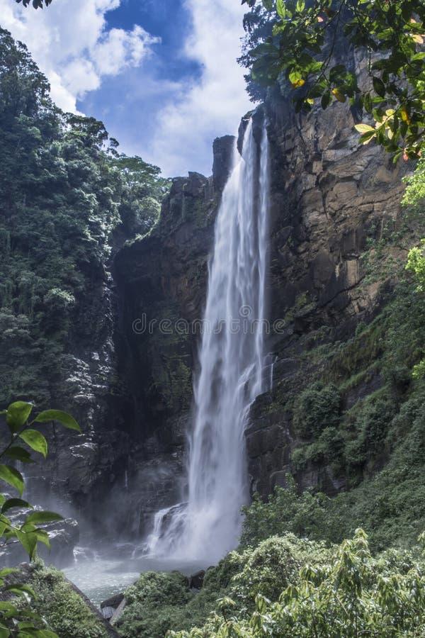 Laxapana waterfall Sri Lanka royalty free stock photo