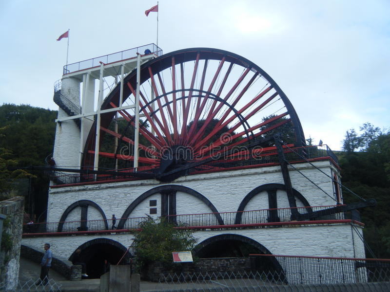 Laxey Wheel in Isle of Man royalty free stock photo